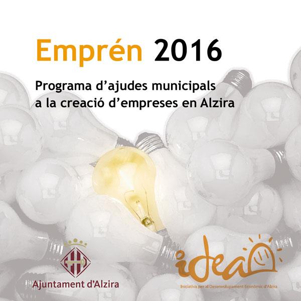 El ayuntamiento de alzira incentiva a los emprendedores con el programa empr n 2016 - Librerias en alzira ...