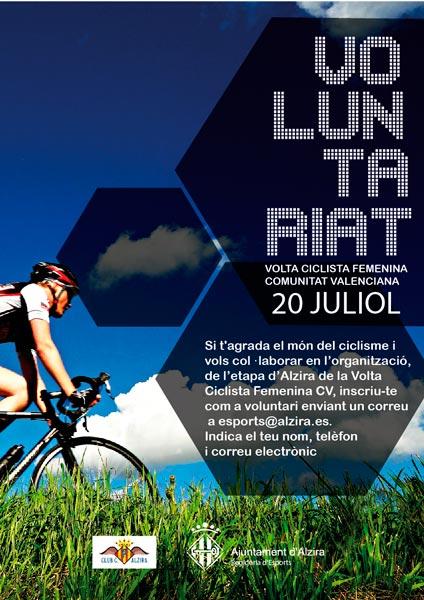 Alzira busca voluntaris per a l organitzaci de la volta ciclista femenina a la comunitat - Librerias en alzira ...