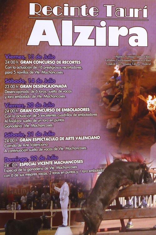 Alzira contar en sus fiestas patronales con diversos espect culos taurinos - Librerias en alzira ...